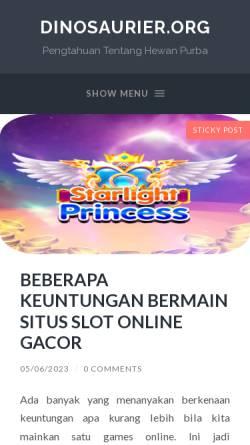 Vorschau der mobilen Webseite www.dinosaurier.org, Dinosaurier.org [Saurier-Web.de]
