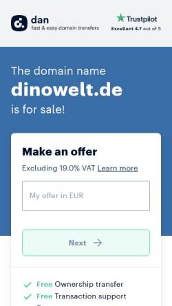 Vorschau der mobilen Webseite www.dinowelt.de, Dinowelt