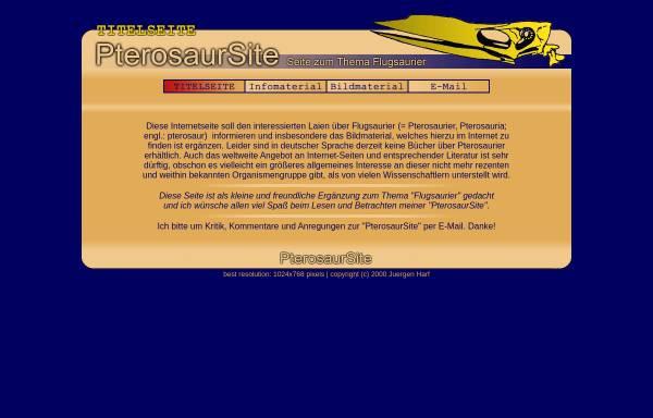 Vorschau von www.pterosaurier.de, Flugsaurier