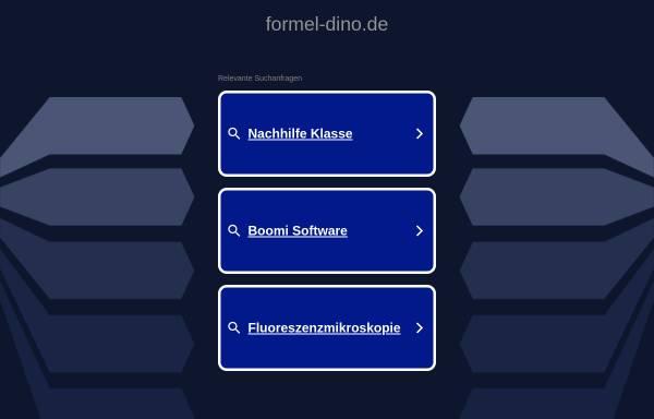Vorschau von formel-dino.de, Formel Dino. Dinosaurier und die Welt zu ihrer Zeit