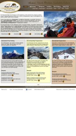Vorschau der mobilen Webseite nepal-trekking.at, Nepal Annapurna Circuit Trekking [Clemens Weiskopf]