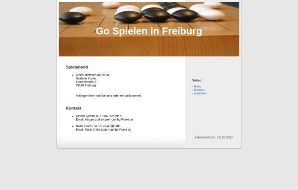Vorschau von www.dreisam-honinbo.de, Freiburger Go Verein