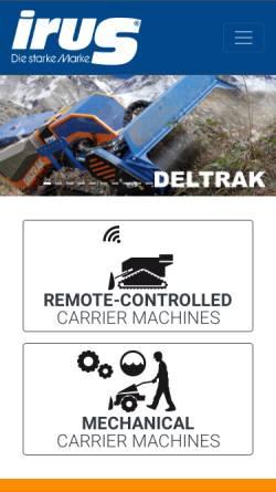 Vorschau der mobilen Webseite www.irus.de, IRUS Motorgeräte GmbH