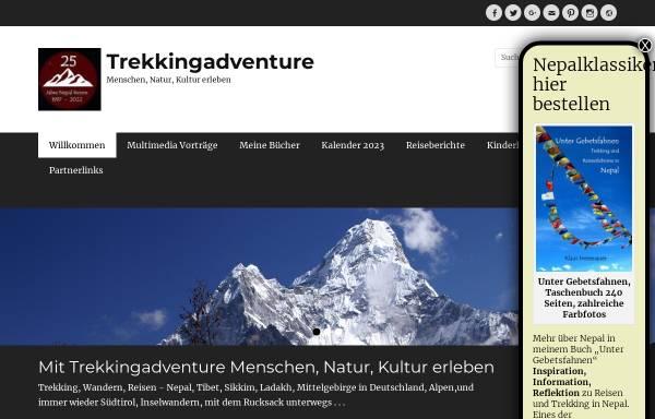 Vorschau von trekkingadventure.de, Der Weg ist das Ziel - Trekking in Nepal [Anne & Klaus Hessenauer]