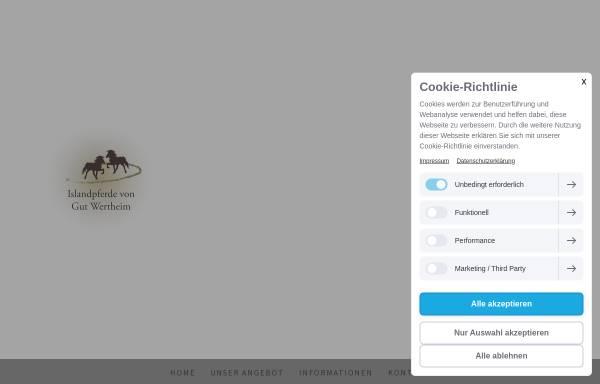 Vorschau von www.islandpferde-gutwertheim.de, Gut Wertheim