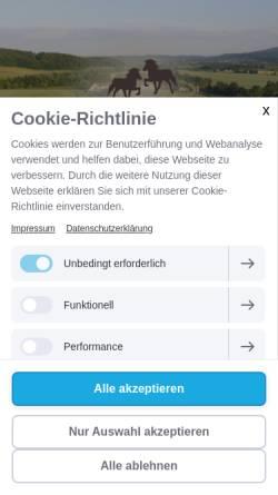 Vorschau der mobilen Webseite www.islandpferde-gutwertheim.de, Gut Wertheim
