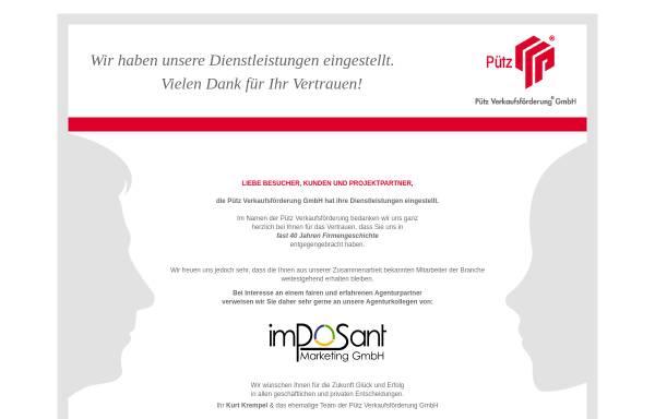 Vorschau von www.puetz-verkaufsfoerderung.de, Pütz Verkaufsförderung GmbH