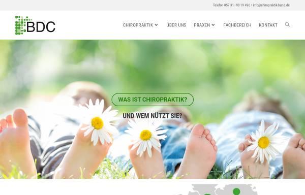 Vorschau von www.chiropraktik-bund.de, Bund deutscher Chiropraktiker e.V.