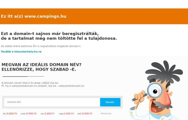 Vorschau von www.campings.hu, Campings in Ungarn