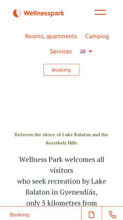 Vorschau der mobilen Webseite www.wellness-park.hu, Josef Grün-Garten-Camping