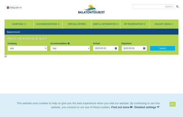 Vorschau von www.balatontourist.hu, SCD Balaton Holding AG