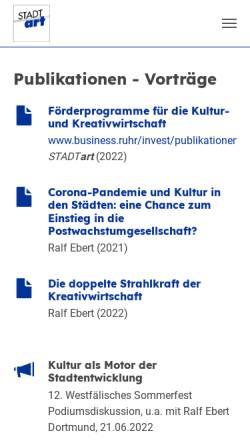 Vorschau der mobilen Webseite www.kulturwirtschaft-nrw.de, Kulturwirtschaft NRW