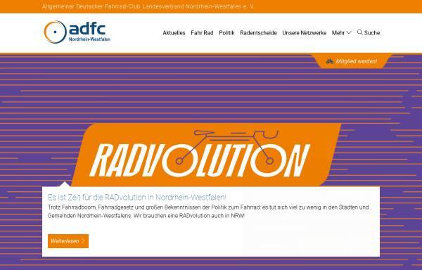 Vorschau von www.adfc-nrw.de, Allgemeiner Deutscher Fahrrad-Club (ADFC), Landesverband Nordrhein-Westfalen e.V.