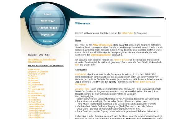 Vorschau von www.studenten-nrw-ticket.de, NRW-Ticket für Studenten