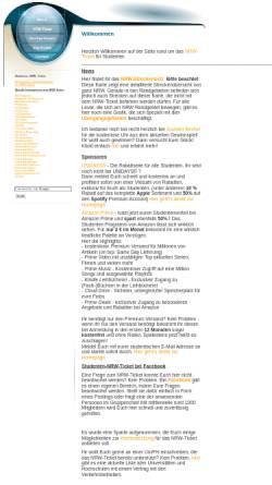 Vorschau der mobilen Webseite www.studenten-nrw-ticket.de, NRW-Ticket für Studenten