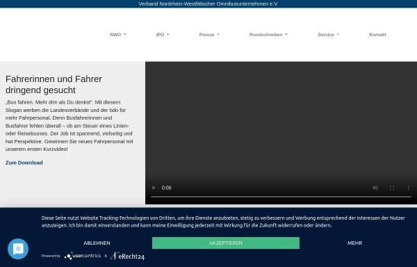 Vorschau von www.nwo-online.de, Verband Nordrhein-Westfälischer Omnibusunternehmen e.V. (NWO)