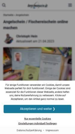 Vorschau der mobilen Webseite fischereibildungsseminare.de, Fischereibildungsseminare Rhein-Ruhr e. V.