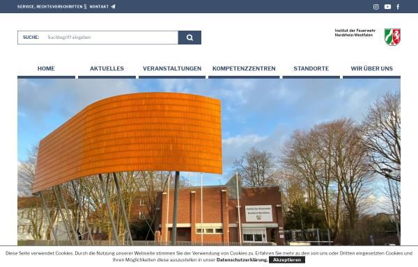 Vorschau von www.idf.nrw.de, Institut der Feuerwehr Nordrhein-Westfalen