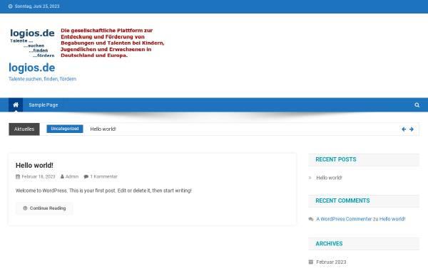 Vorschau von www.logios.de, Logios-Netzwerk Hochbegabung