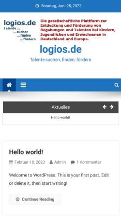 Vorschau der mobilen Webseite www.logios.de, Logios-Netzwerk Hochbegabung