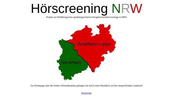 Vorschau von www.hoerscreening-nrw.de, Hörscreening in NRW