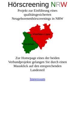 Vorschau der mobilen Webseite www.hoerscreening-nrw.de, Hörscreening in NRW