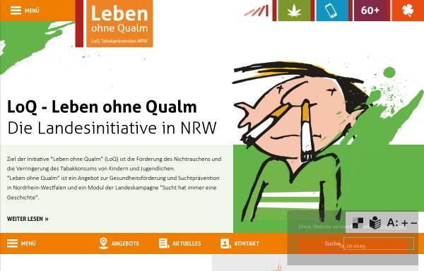 Vorschau von www.loq.de, Leben ohne Qualm (LoQ)
