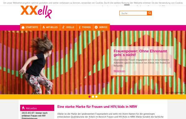 Vorschau von www.xxelle-nrw.de, XXelle - Initative Frauen und AIDS in NRW