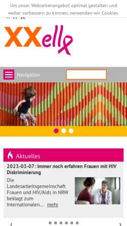 Vorschau der mobilen Webseite www.xxelle-nrw.de, XXelle - Initative Frauen und AIDS in NRW