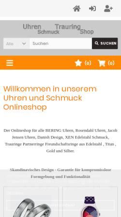 Vorschau der mobilen Webseite www.perlen-schwerin.de, Goldschmiede Nothdurft