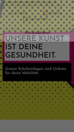 Vorschau der mobilen Webseite www.kubitza-schwerin.de, Orthopädie und Schuhhaus Kubitza