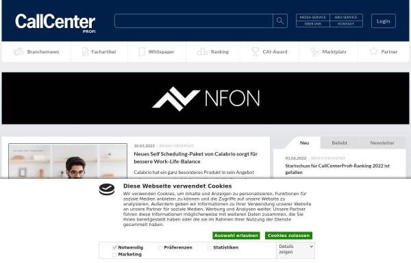 Vorschau von www.callcenterprofi.de, Callcenter-Profi - Business-Guide