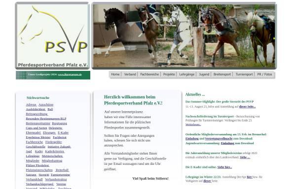Vorschau von www.pferdesportverband-pfalz.de, Pferdesportverband Pfalz e.V.