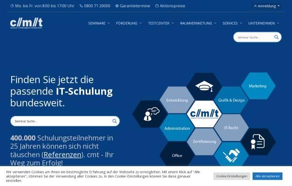 Vorschau von www.cmt.de, cmt - Computer- und Management Trainings GmbH