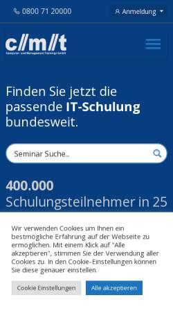 Vorschau der mobilen Webseite www.cmt.de, cmt - Computer- und Management Trainings GmbH