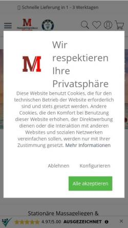 Vorschau der mobilen Webseite massunda.com, MASSUNDA Inh. D. Weißbach