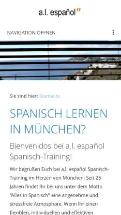 Vorschau der mobilen Webseite www.al-espanol.de, A.L. Español