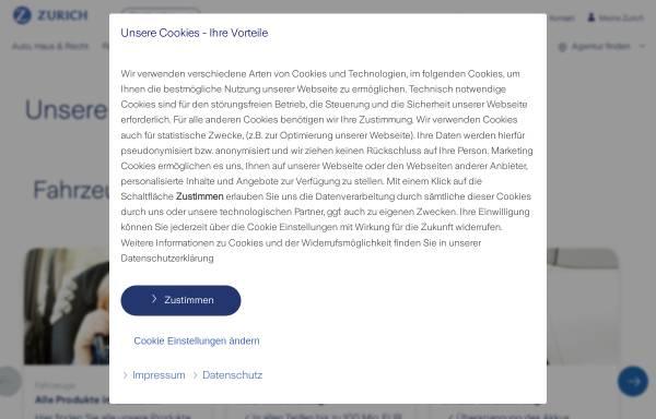Vorschau von www.zurich.de, Zürich Beteiligungs-Aktiengesellschaft - Kreditversicherung
