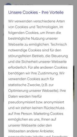Vorschau der mobilen Webseite www.zurich.de, Zürich Beteiligungs-Aktiengesellschaft - Kreditversicherung