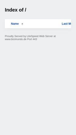 Vorschau der mobilen Webseite www.bicimundo.de, Fahrradweltreise
