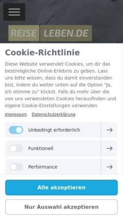 Vorschau der mobilen Webseite www.reiseleben.de, Reiseleben