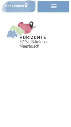 Vorschau der mobilen Webseite nikolaus-osterath.kita-horizonte.de, Katholischer Kindergarten St. Nikolaus