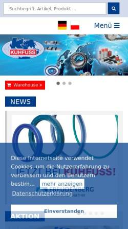 Vorschau der mobilen Webseite www.kuhfussonline.com, August Kuhfuss Nachf. Ohlendorf GmbH