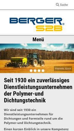 Vorschau der mobilen Webseite www.bergers2b.com, Berger S2B GmbH