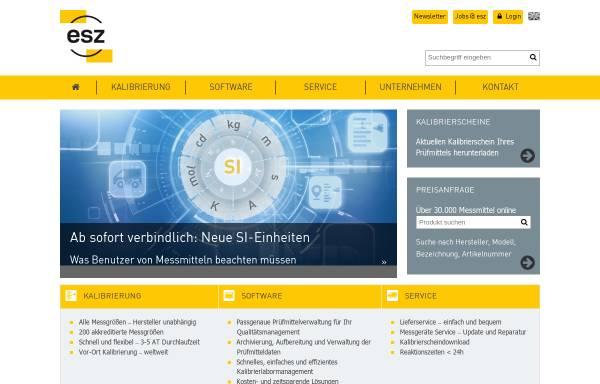 Vorschau von www.esz-gmbh.de, ESZ Elektronik-Service GmbH