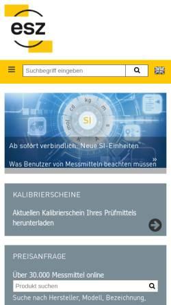 Vorschau der mobilen Webseite www.esz-gmbh.de, ESZ Elektronik-Service GmbH