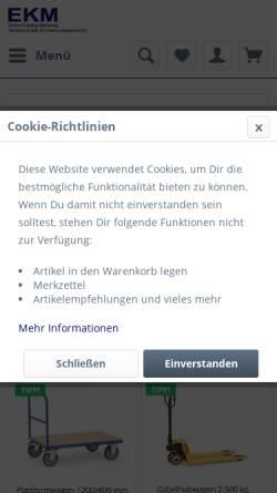 Vorschau der mobilen Webseite www.ekm-consulting.de, EKM Einkauf-Katalog-Marketing-Consulting, Inh. Peter Holtermann
