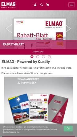 Vorschau der mobilen Webseite www.elmag.at, ELMAG Entwicklungs- und Handelsges.m.b.H.