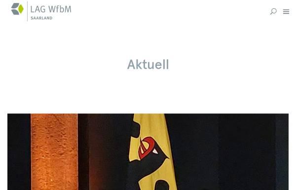 Vorschau von www.wfbsaar.de, Landesarbeitsgemeinschaft der Werkstätten für behinderte Menschen im Saarland e.V.
