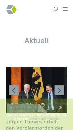 Vorschau der mobilen Webseite www.wfbsaar.de, Landesarbeitsgemeinschaft der Werkstätten für behinderte Menschen im Saarland e.V.